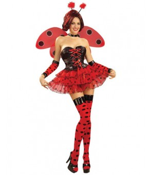 Lady bug thigh highs