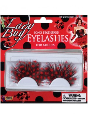 Lady bug eyelashes